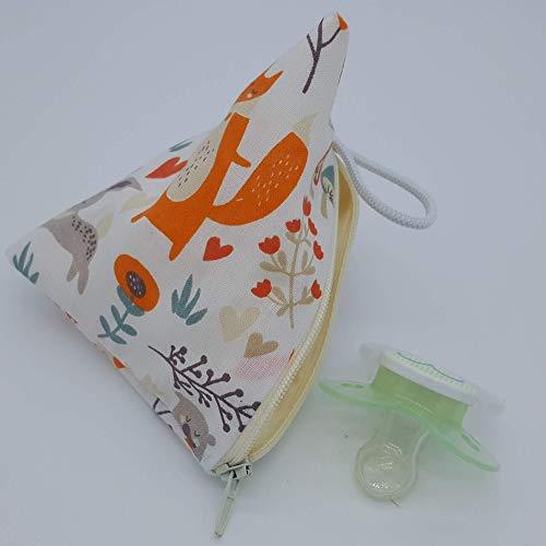 Aufbewahrung Schnuller-Tasche XL für 2-4 Nuckel Waldtiere