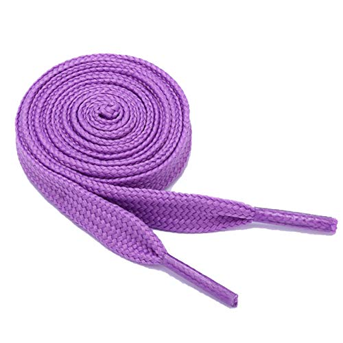 Shoelaces Cheap 1 par, 100 cm de largo, color blanco y verde, Morado (morado), Talla única