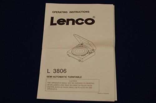 Unbekannt Lenco L AVR-3806 Tocadiscos Instrucciones de Uso