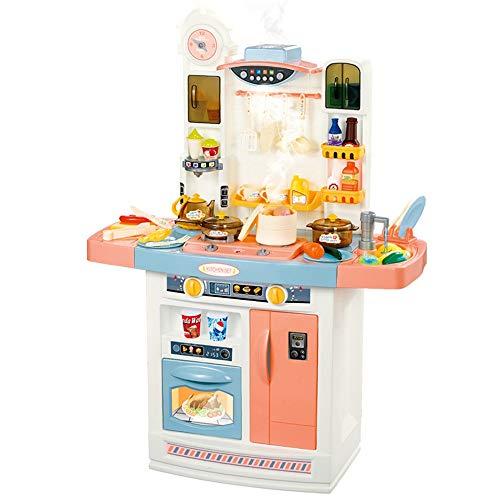Little Chef'Kitchen Spielset Küche Spielset Kinder spielen mit Realistische Lichter Sounds Simulation von Spray Spielen Sink mit fließendem Wasser Dessert Regal Spielzeug Andere Kithen Zubehör-Set Rol