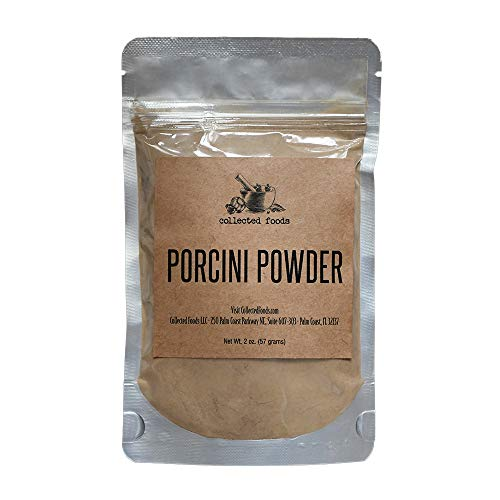 Collected Foods Pure Porcini Powder: Earthy, Woodsy, Umami flavor - 2 oz