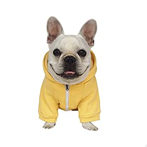 Dorapocket pour animal domestique Fermeture Éclair Capuche Costumes Bulldog Sweat Vêtements Carlin Sports Pull Apparel Puppy Jersey Tenue Schnauzer Manteau avec chapeau