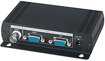 VGA to Composite Video BNC Converter Dual Output to BNC and VGA Output PC DVR on LCD TV