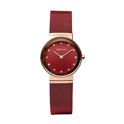 BERING Damen Analog Quarz Uhr mit Edelstahl Armband 10126-363