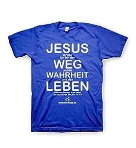 """""""Jesus spricht: Ich bin der Weg, die Wahrheit und das Leben. Niemand kommt zum Vater als nur durch mich."""" Die Bibel - Johannes 14,6 Zeige den Menschen, dass Jesus sie liebt! Ein wunderbares T-Shirt um den Herrn Jesus Christus zu bezeugen, überall wo ..."""