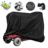 Rilime Mobility Scooter Cover, Power Wheels Cover 50cc Waterproof for Travel Lightweight Electric Wheelchair Cover, 55 x 26 x 36inch