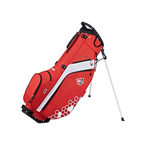 Wilson Staff Sac de golf, Feather Golf Stand Bag, Rouge/Blanc, Support Inclus, 1,7 kg, WGB5705RD