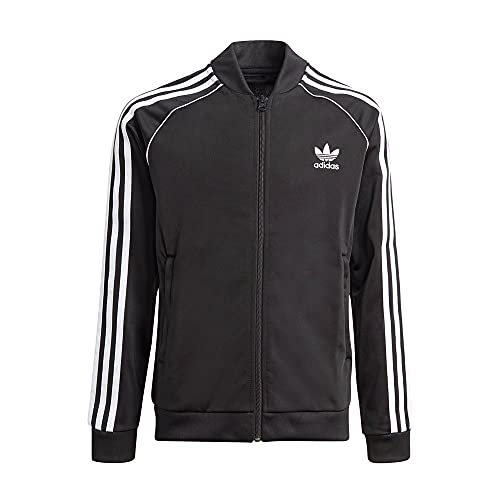 adidas GN8451 SST Track Top Sweatshirt Unisex-Child Black/White 910A
