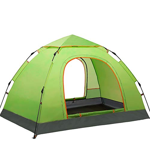 ZZWL Tienda de campaña, Adecuada para Playas, Lagos, Playas, Pesca, Camping, Parques, sombrillas y protección UV; Gran Espacio, Estructura Estable,Green