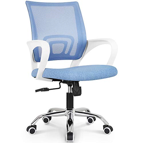 NEO CHAIR Office Chair Ergonomic Desk Chair Mesh Computer Chair Lumbar Support Modern Executive Adjustable Stool Rolling Swivel Chair Comfortable Mid Black Task Home Office Chair, Grey