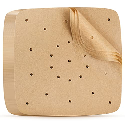 Air Fryer Parchment Paper, 100 Pieces, 8.7 Inches Square Air Fryer Parchment Liner/Bamboo Steamer Paper, XXL Philips, NuWave Brio, Chefman, OMORC, Cuisinart, COSORI, Cooks Essentials, Oven, SARKI