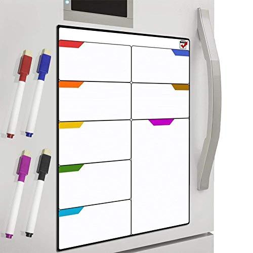DUTISON Magnetisches Whiteboard und Kühlschrank-Kalender Ideal für Veranstaltungseinträge und Ferienpläne
