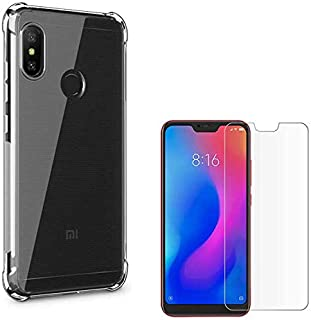 "Capa Anti Impacto Shock para Celular Xiaomi Mi A2 Lite 5.84"" + Película de Vidro Temperado, Case Mi A2 Lite Transparente e Flexível"