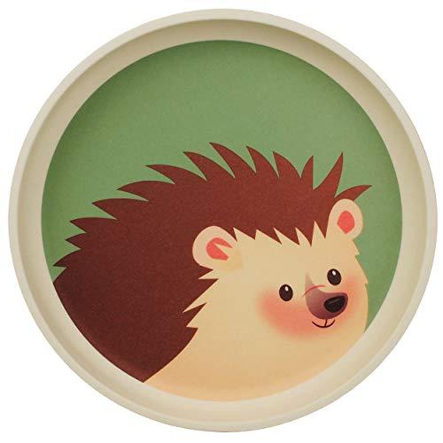 alles-meine.de GmbH 2 Stück _ Bambus - Futternäpfe / Freßnäpfe - Igel & Pilz / Waldtiere - BPA frei - Bambusnapf / Napf Hund Katze Haustiere groß - Geschirr Bamboo Haustier - Bam..