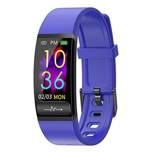 ZYY Adecuado para Android IOSM8 AI ECG Temperatura Reloj Inteligente Monitor de Ritmo cardíaco ECG PPG Presión Arterial Reloj de Pulsera Reloj Inteligente,B
