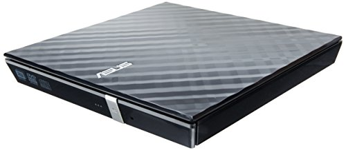ASUS ASUS LITE Portable USB 2.0 Slim 8X DVD/ Burner +/- Rewriter External Drive, Compatible with both Mac & Windows, Black (SDRW-08D2S-U/BLK/G/AS)