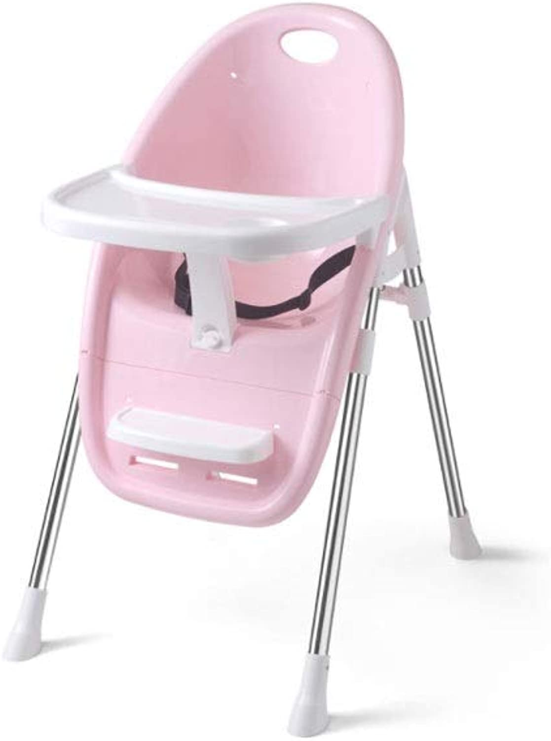 Baby Dining Chair Sleek Minimalist Comfortable Breathable Stable Portable Folding Baby Chair (color   Pink, Size   48  67  89cm)