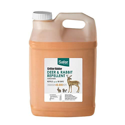Safer Brand 5974 Critter Ridder Deer & Rabbit Repellent Concentrate – 2.5 Gallon