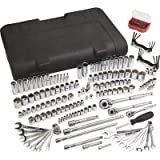 Klutch SAE and Metric Mechanic's Tool Set - 189-Pc. 1/4in. 3/8in. & 1/2in. Drive
