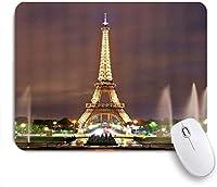 ZOMOY マウスパッド 個性的 おしゃれ 柔軟 かわいい ゴム製裏面 ゲーミングマウスパッド PC ノートパソコン オフィス用 デスクマット 滑り止め 耐久性が良い おもしろいパターン (エッフェル塔のナイトペア)