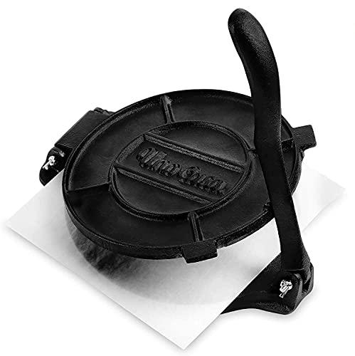 Uno Casa Cast Iron 10 Inch Tortilla Press - Roti...