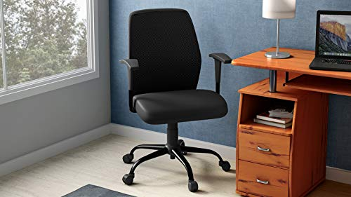 GODREJ INTERIO Poise Desk Mild Steel Chair Suitable for Work from Home (Black)