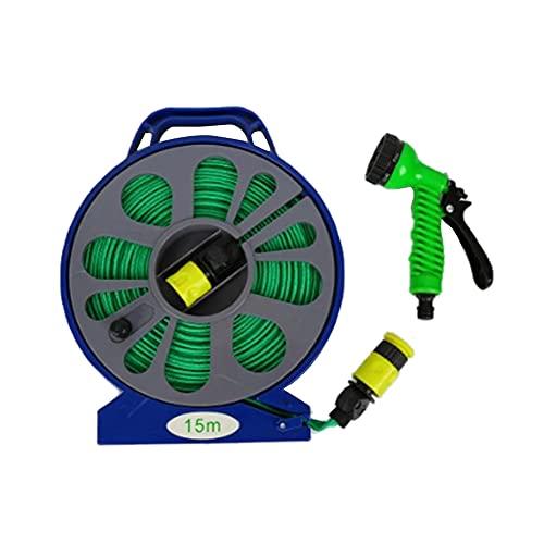 Tuinslanghaspel met gids, mobiele trolley, ultra duurzaam, lichtgewicht, flexibel, knikvrij, buitenwaterplantkar voor wandgeluid