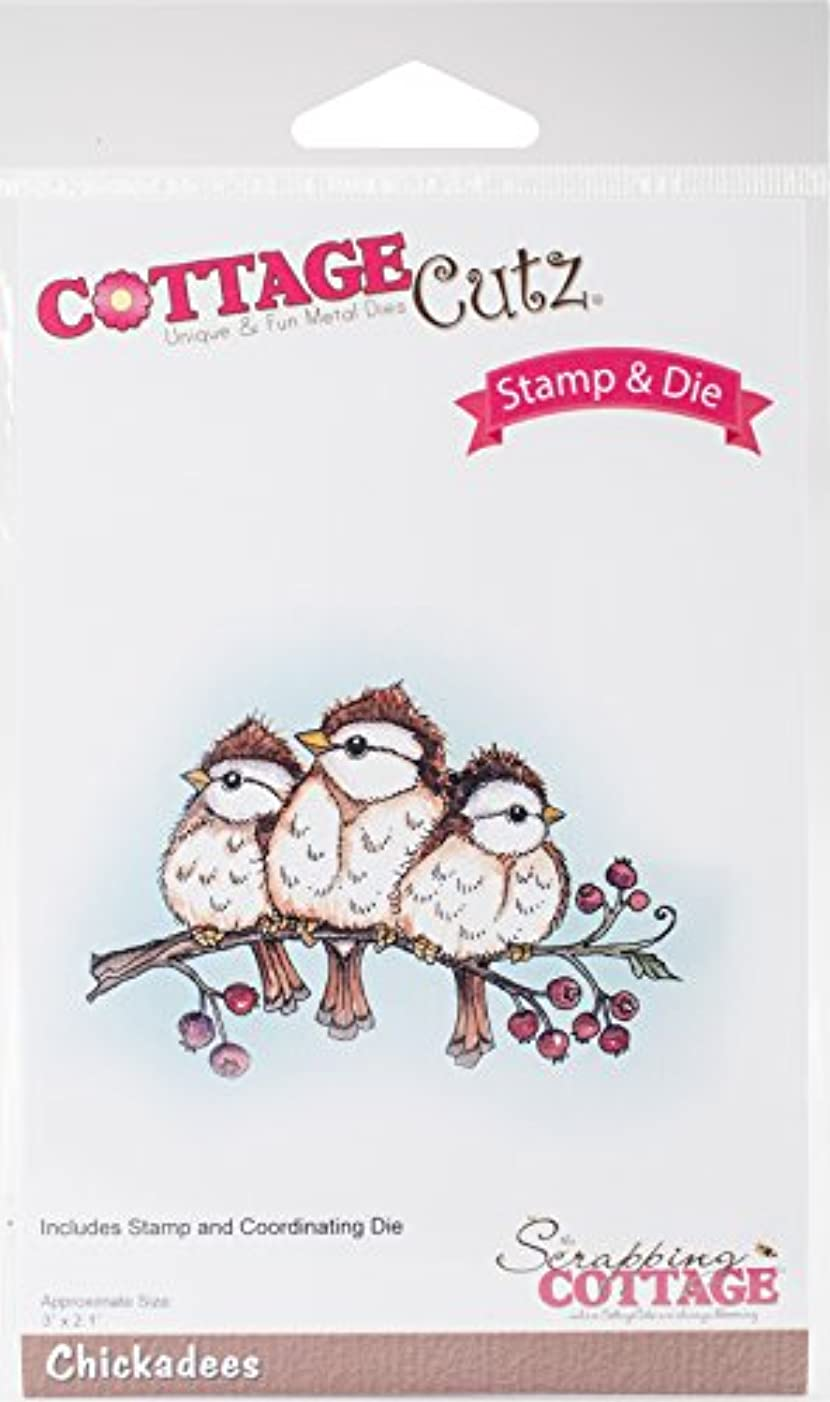 CottageCutz CCS-038 Stamp and Die Set-Chickadees 3 inches X2.1 inches