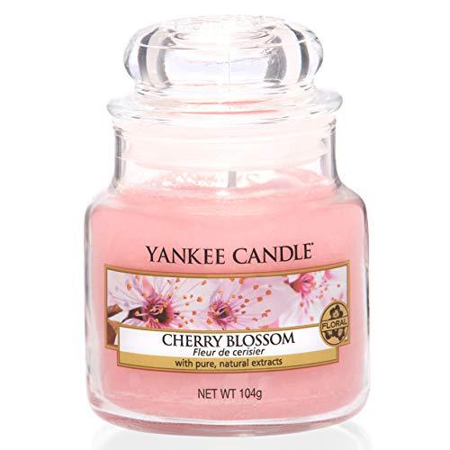 Yankee Candle Duftkerze im Glas (klein) | Cherry Blossom | Brenndauer bis zu 30 Stunden