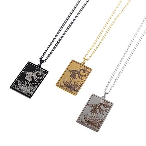 Wicca Tarot Card Waite Major Arcana Pagan Colgante Amuleto Collar