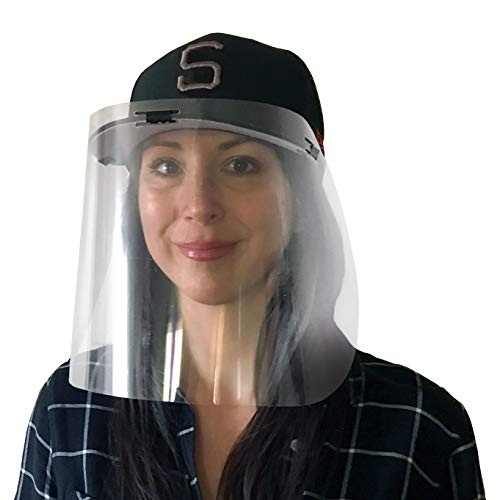 Visor Mask Shield - Protection Against coughing and Sneezing - Attaches to Any Cap with a Visor - 12 Units