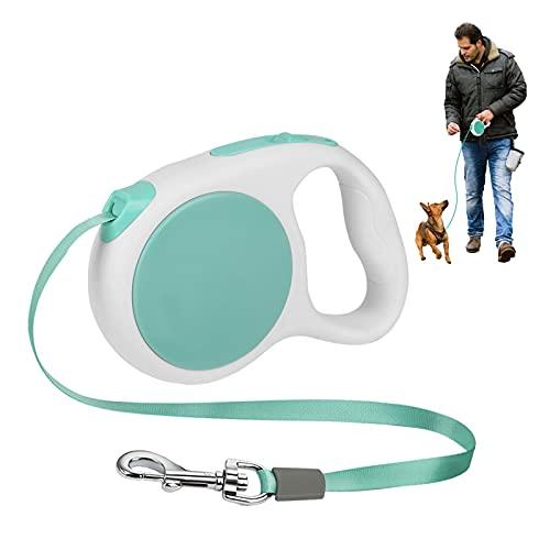 Guinzaglio per cani retrattile Aceshop 3M Guinzaglio estensibile per cani Nastro in nylon antigroviglio a 360 ° con impugnatura antiscivolo e una mano per cani di taglia piccola / media fino a 15 kg