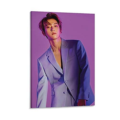 WEICHAO Baekhyun EXO Love Shot Poster decorativo su tela da parete per soggiorno, camera da letto, 40 x 60 cm
