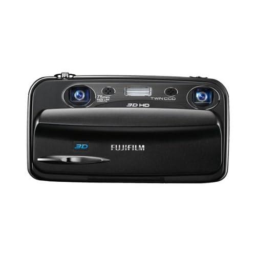 """Fujifilm FinePix Real 3D W3 - Cámara digital compacta de 10 Mp (pantalla de 3.5"""", zoom óptico 3x), negro"""