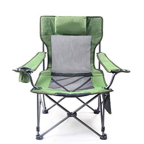 YYZZ Sendero Ocio Al Aire Libre Silla De Camping Plegable Acolchada Portavasos para Directores con Respaldo Alto(Color:UN)
