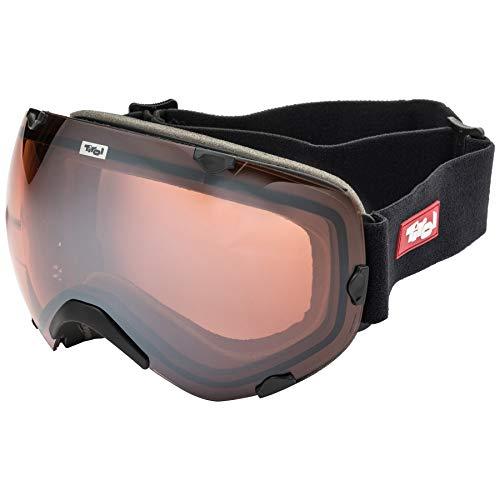 Tirol skibril Idjoch zwart/oranje Revo