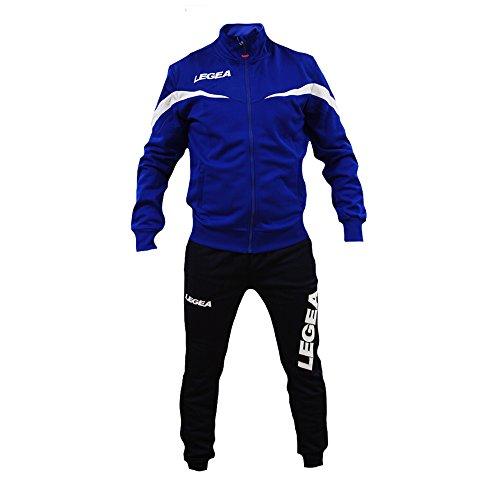 Perseo Sport Tuta Legea Mosca T122 Uomo Allenamento Fitness Calcio Tempo Libero Vari Colori e TG … (XL, Azzurro/Blu)