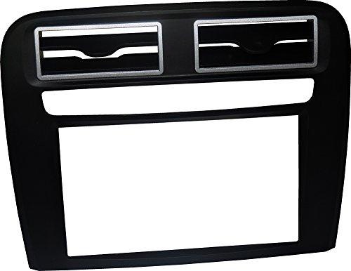 Mascherina autoradio 2 DIN Kit installazione DOPPIO DIN completo di staffe per il montaggio, PURO senza cornice adatto per radio con monitor motorizzato. Colore mascherina: NERO Opaco. Consulta la sezione 'DESCRIZIONE' per vedere la compatibilità dei veicoli.
