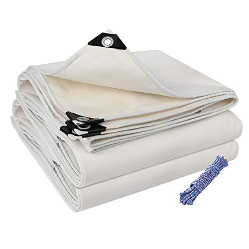 Espesar Lonas Impermeable Impermeable Tapa A Prueba De Lluvia Blanco Resistente A...