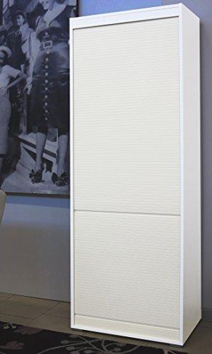 NuovaIdeaDesign.it Mobile a serrandina in Legno Laminato H180 L60 P45 con 4 Ripiani Interni - Vari Colori