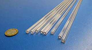 """Nominal Polycarbonate Round Tube 3//4/"""" ID x 1/"""" OD x 1//8/"""" Wall 2 Pack 11-7//8/"""""""