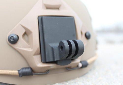 Buwico Aluminium Fixed Helmet NVG Mount Helm Montieren Base für GoPro 4/3+/3/2/1