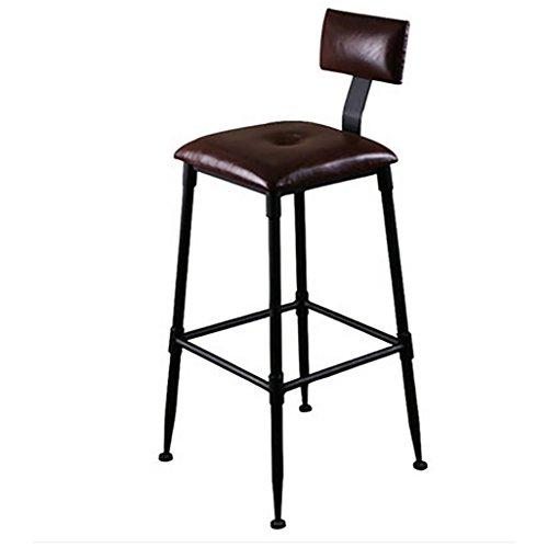 Barkruk, industriële, kruk, ontbijtshocker, retro, bar, stoel, leer, zitkussen, hout, kruk, bar, ijzer, bar, hoge stoel, kruk, stool D