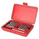 Juego de bloques de calibre de precisión, 23 agujeros, 1-2-3, herramienta de medición de maquinista de fresado a juego con tornillos, estuche para llaves, para fresadora, hogar industrial