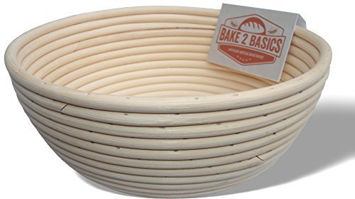 Banneton Bread Proofing Basket & free ultimate guide to bannetons eBook - (Brotform) - Bake Beautiful Artisan Bread In This 9 Inch Rattan Basket