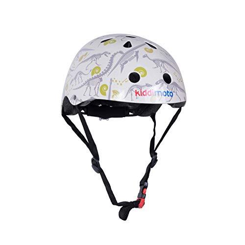 Kiddimoto Fahrrad Helm für Kinder / Fahrradhelm / Design Sport Helm für skates, roller, scooter, laufrad - Fossil / Dino - S (48-53cm)