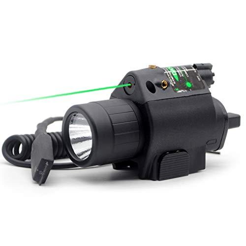 Trirock - Torcia a LED con interruttore a pressione e guida Picatinny da 20 mm, colore: Verde