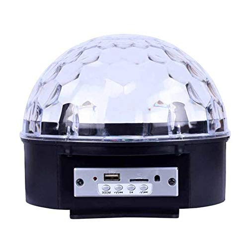 Laogg Discokugel LED Lichteffekte MP3 Musik Player Party Lampe Magic Ball Bühnentechnik Lichtprojektor, für Show Disco KTV Stab Stadium Club Hochzeit Geburtstag