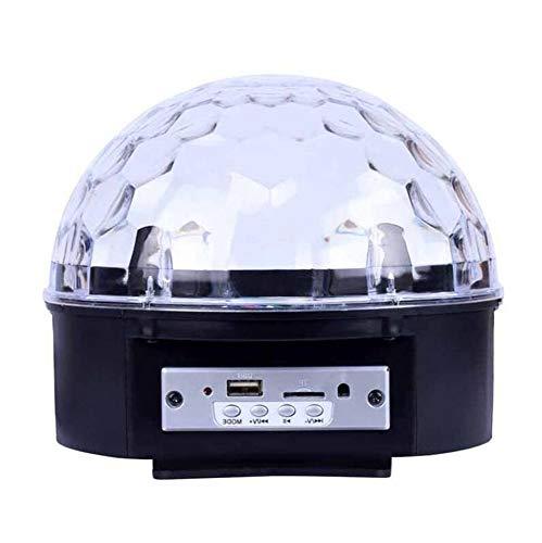 Laogg Discokugel LED Lichteffekte MP3 Musik Player Party Lampe Magic Ball Bühnentechnik Lichtprojektor, für Show Disco KTV Stab Stadium Club Hochzeit Geburtstag