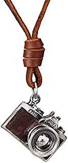 قلادة كاميرا Holibanna قلادة عتيقة قابلة للتعديل للنساء الرجال هدية المجوهرات (أسود)